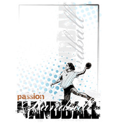 Woman handball player vector