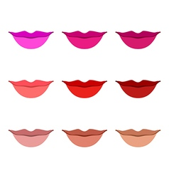 Women lips icon set vector image