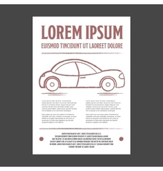 Auto repair leaflet or flyer vector image