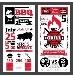 barbecue invitation vector image