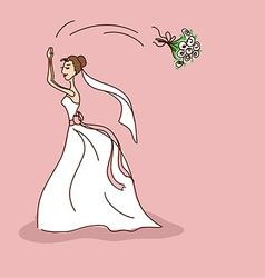 Bridal shower or wedding invitation vector image