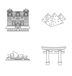 Building interesting place palace countries vector