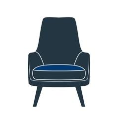 chair seat armchair stool vector image
