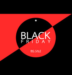 black friday sale tag banner - big shopping vector image