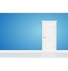 Blue abstract 3D geometrical design door in vector image vector image