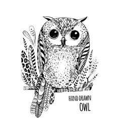 Hand drawn bird Art Coloring book vector image