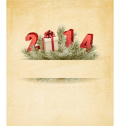 Happy new year 2014 New year design template vector image vector image