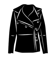 Winter jacket icon simple style vector image vector image