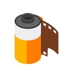 Camera film roll icon isometric 3d style vector image