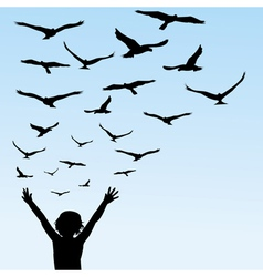 learning to fly vector image vector image