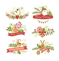 set of Christmas graphic elements vector image