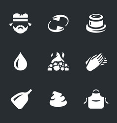 set of potter icons vector image
