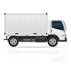 small truck 04 vector image