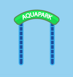aquapark entrance sign vector image vector image