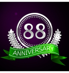 Eighty eight years anniversary celebration with vector image