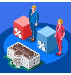 Election Infographic Presidential Score Isometric vector image