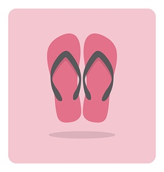 flat icon beach sandals vector image vector image
