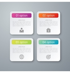 four square infographics vector image