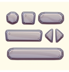 Gray stone buttons vector image