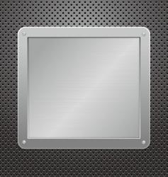 metallic plaque vector image