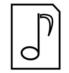 music file icon vector image