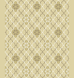 seamless flower pattern abstract floral ornament vector image vector image