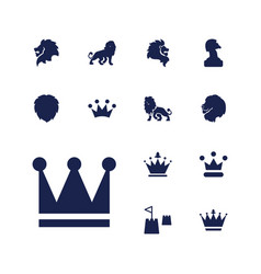 13 king icons vector
