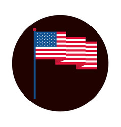 4th july independence day waving american flag vector image