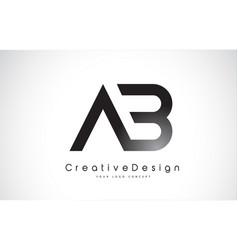 Ab letter logo design creative icon modern vector