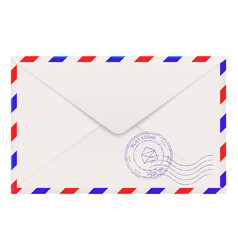 air mail envelope back side vector image