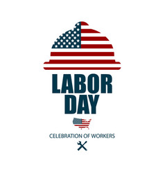 american happy labor day poster or banner happy vector image