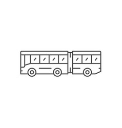 Articulated bus line icon vector