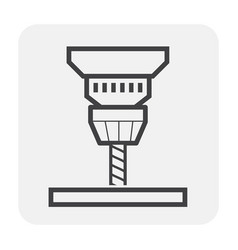 Auger drilling icon vector
