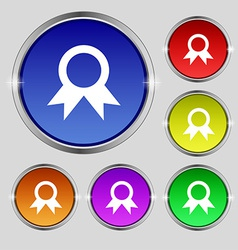 Award Prize for winner icon sign Round symbol on vector image