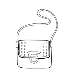 Bag fashion accessory black and white vector
