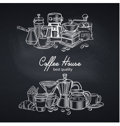 banner template coffee page design with vector image