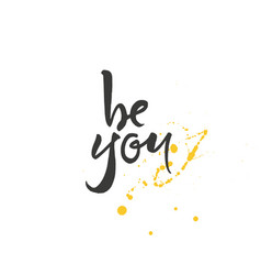 be you lettering vector image