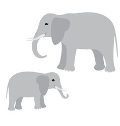 Big and little elephant vector