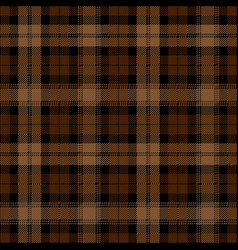 Black and brown tartan plaid scottish pattern vector