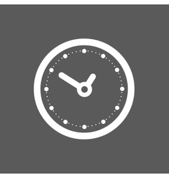 black clock icon vector image