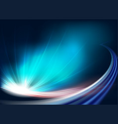 Blue background with bright light vector
