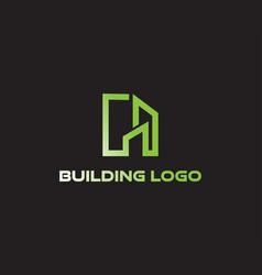 Building logo creative logo line vector