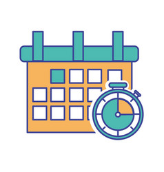 Calender and chronometer design vector