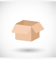 cardboard box flat icon vector image