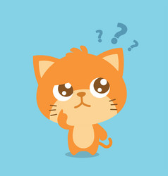 cat thinking character collection vector image