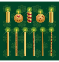 Christmas candles set vector image
