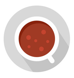 coffee cup icon flat style vector image