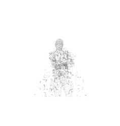 Conceptual abstract man with crossed arms vector