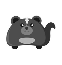 cute skunk animal character vector image