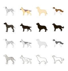 Dalmatian dog german shepherd breed retriever vector